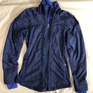 Lululemon Athletica blue fullzip jacket
